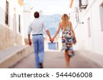 couple walking outdoors in the... | Shutterstock . vector #544406008