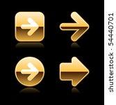 metal gold arrow web buttons... | Shutterstock .eps vector #54440701