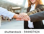 group of business people... | Shutterstock . vector #544407424