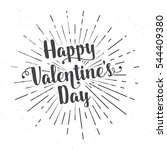 happy valentine's day text and... | Shutterstock .eps vector #544409380