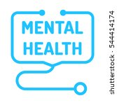 mental health. badge with... | Shutterstock .eps vector #544414174