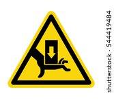 hand hazard sign. danger sign... | Shutterstock .eps vector #544419484