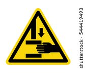 hand hazard sign. danger sign...   Shutterstock .eps vector #544419493