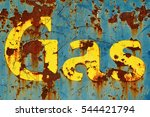 Old Rusty Metal Sign On Gate I...