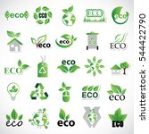 eco icons set  vector... | Shutterstock .eps vector #544422790