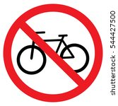 no bicycle sign  stock vector ... | Shutterstock .eps vector #544427500