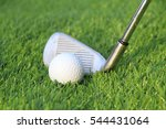 golf club and ball hit swing... | Shutterstock . vector #544431064