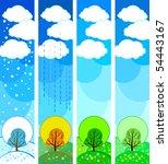 vector stylized seasonal tree | Shutterstock .eps vector #54443167