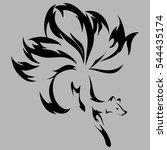 vector image of a fox design on ...   Shutterstock .eps vector #544435174