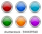 set of vector web icons. silver ... | Shutterstock .eps vector #544439560