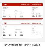 red and white boarding pass ...   Shutterstock .eps vector #544446016