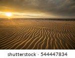 sand dunes against the sunset...   Shutterstock . vector #544447834
