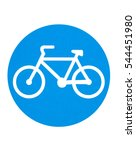 traffic sign   cycling route | Shutterstock . vector #544451980