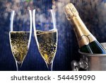 champagne in bucket   new year... | Shutterstock . vector #544459090