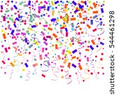 colorful confetti falling on... | Shutterstock .eps vector #544461298