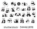 panda animal set | Shutterstock .eps vector #544461898