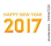 happy new year 2017 poster.... | Shutterstock .eps vector #544467220
