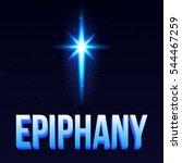 epiphany day poster. vector ... | Shutterstock .eps vector #544467259