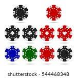 poker chips set isolated on... | Shutterstock .eps vector #544468348