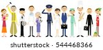 people in the city | Shutterstock .eps vector #544468366