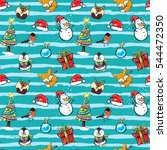 seamless winter holiday pattern ... | Shutterstock .eps vector #544472350