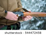 male hands hunter inserted... | Shutterstock . vector #544472458