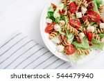 overhead  close up shot of blt... | Shutterstock . vector #544479940