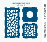 laser cut template for candle... | Shutterstock .eps vector #544482658