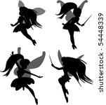 little fairies set | Shutterstock . vector #54448339