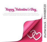 happy valentines day background ... | Shutterstock .eps vector #544488520