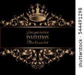 Vintage Gold Invitation Card...