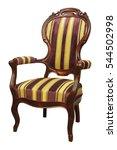 stripe baroque rokoko armchair... | Shutterstock . vector #544502998