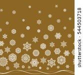 hand drawn abstract snowflakes... | Shutterstock .eps vector #544503718