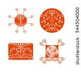 vector set of nature logos... | Shutterstock .eps vector #544504000