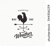 windvane rooster abstract retro ... | Shutterstock .eps vector #544506259
