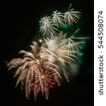 gorgeous colorful fireworks and ... | Shutterstock . vector #544508074