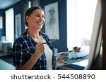 successful painter | Shutterstock . vector #544508890