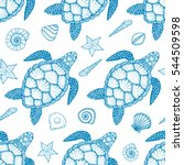 Seamless Pattern With Sea...