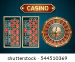 roulette is a casino in retro... | Shutterstock .eps vector #544510369