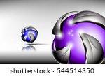 abstract 3d logo design. hi... | Shutterstock .eps vector #544514350