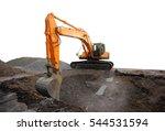 excavator | Shutterstock . vector #544531594