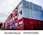 amsterdam shipping container... | Shutterstock . vector #544533283