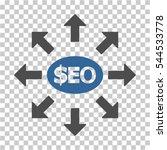 seo marketing icon. vector... | Shutterstock .eps vector #544533778
