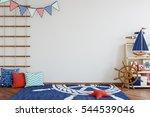 mock up wall in child room...   Shutterstock . vector #544539046