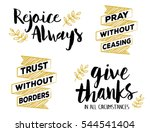 rejoice always  pray without... | Shutterstock .eps vector #544541404