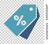 percent discount tags icon.... | Shutterstock .eps vector #544543369