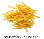 french fries isolated on white... | Shutterstock . vector #544545478