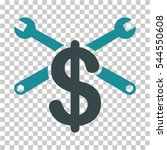 repair service price icon.... | Shutterstock .eps vector #544550608