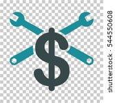 repair service price icon.... | Shutterstock .eps vector #544550608