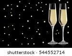 glasses of champagne isolated...   Shutterstock . vector #544552714